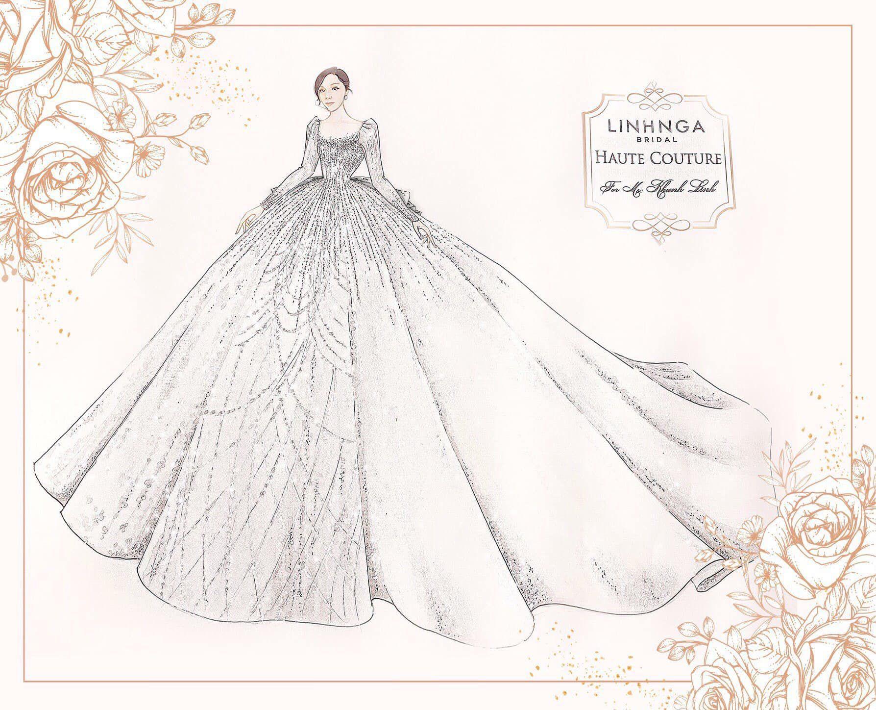 Chiêm ngưỡng 6 váy cưới của Khánh Linh biến nàng trở thành công chúa