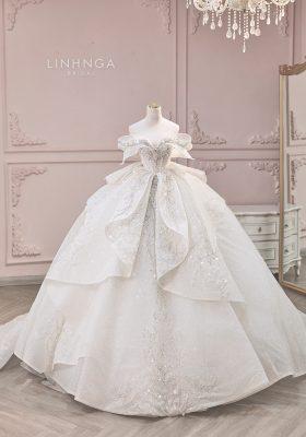 Quy trình may váy cưới từ xa 2021 của LINH NGA