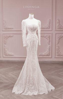 Quy trình may váy cưới từ xa 2021 của LINH NGA - 3